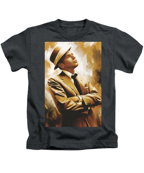 Frank Sinatra Artwork 1 Kids T-Shirt