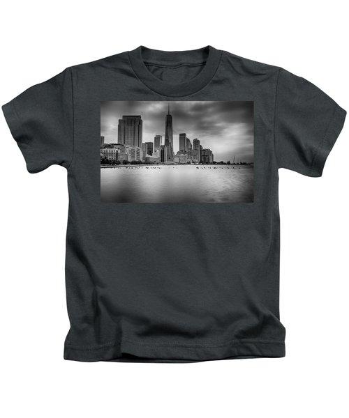 Freedom In The Skyline Kids T-Shirt