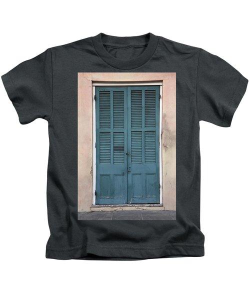French Quarter Doors Kids T-Shirt