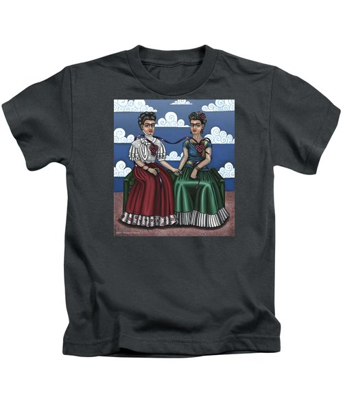 Frida Beside Myself Kids T-Shirt