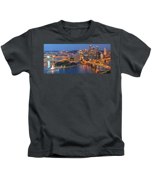 From The Fountain To Ft. Pitt Kids T-Shirt
