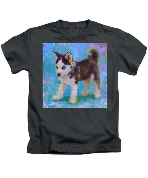 Alaskan Husky Sled Dog Puppy Kids T-Shirt