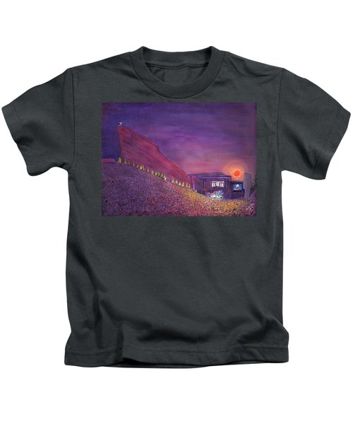 Furthur Red Rocks Equinox Kids T-Shirt