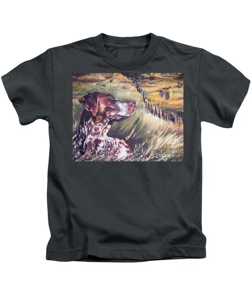 German Shorthaired Pointer And Pheasants Kids T-Shirt
