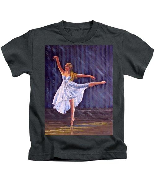 Girl Ballet Dancing Kids T-Shirt