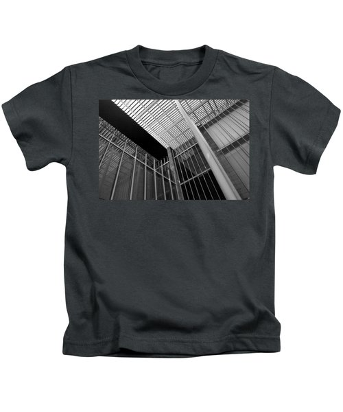 Glass Steel Architecture Lines Black White Kids T-Shirt