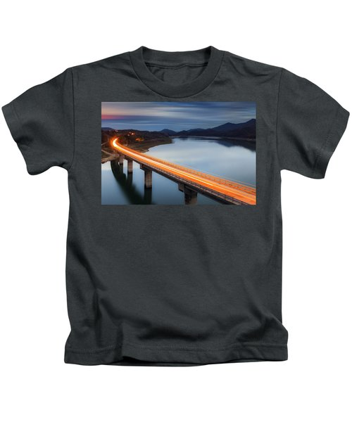 Glowing Bridge Kids T-Shirt