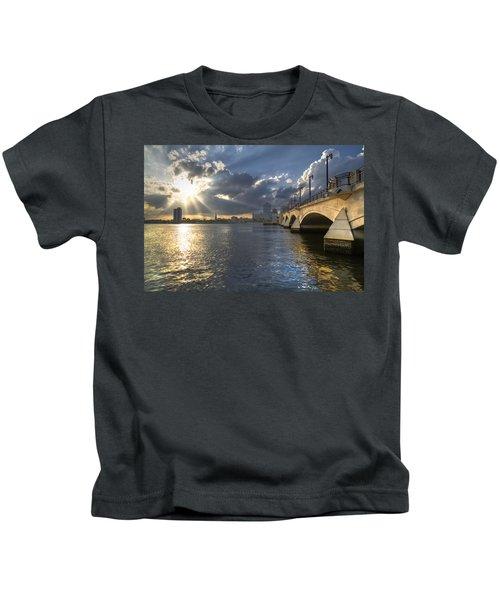 God's Light Over West Palm Beach Kids T-Shirt