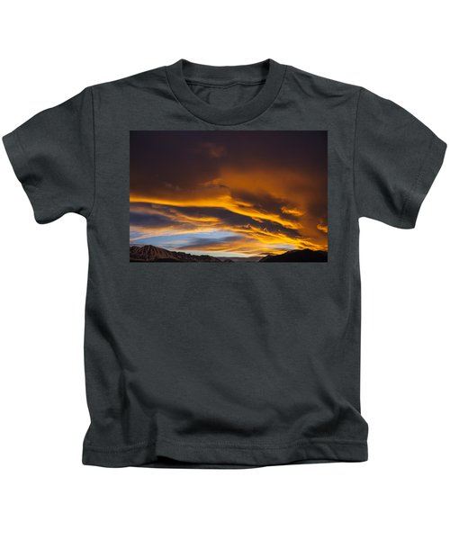 Golden Clouds Over Sierras Kids T-Shirt