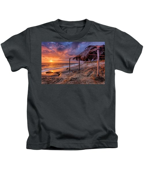Golden Sunset The Surf Shack Kids T-Shirt