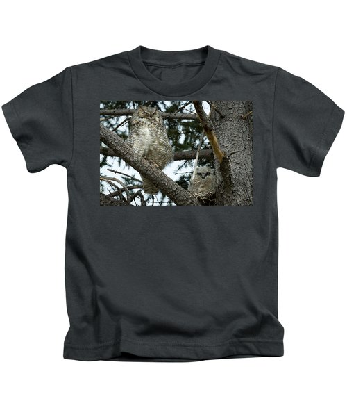 Great Horned Owls Kids T-Shirt