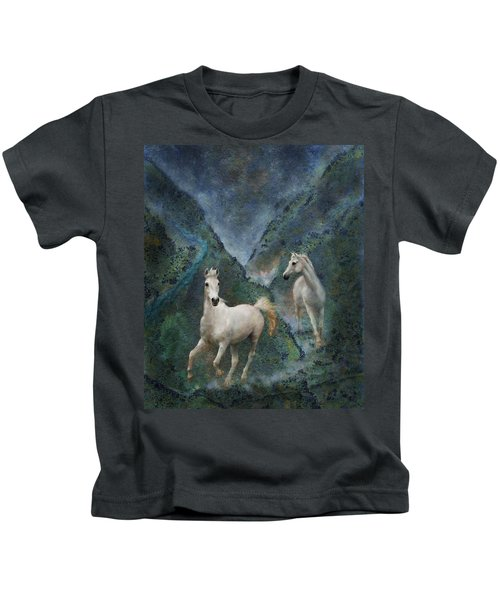 Green Canyon Run Kids T-Shirt