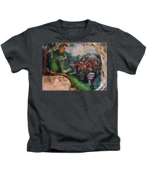 Green Tea In The Garden Kids T-Shirt