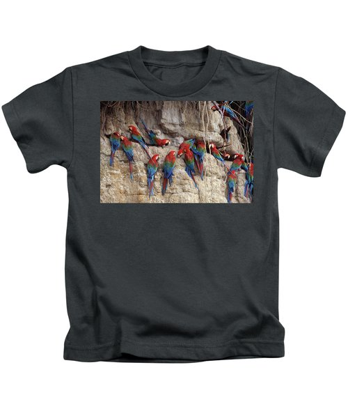 Green-winged Macaw Kids T-Shirt