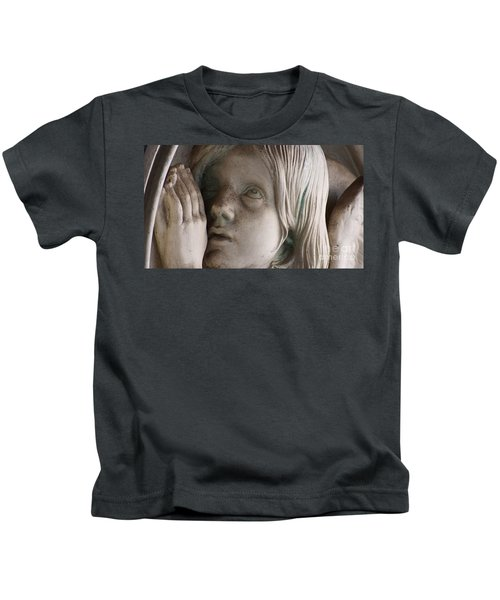 Guardian Angel With Praying Hands Kids T-Shirt