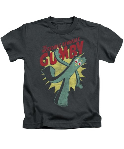 Gumby - Bendable Kids T-Shirt