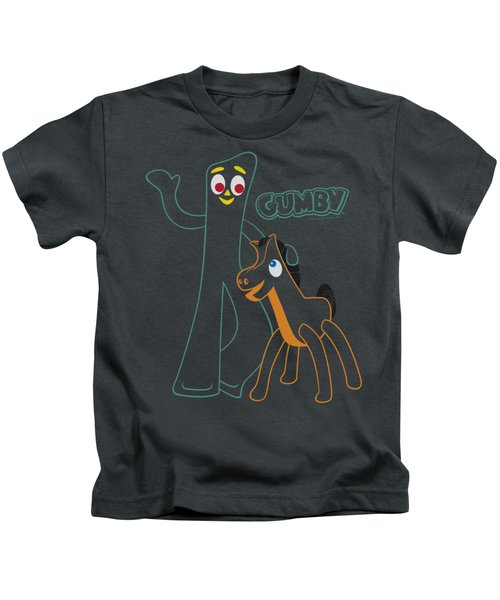 Gumby - Outlines Kids T-Shirt