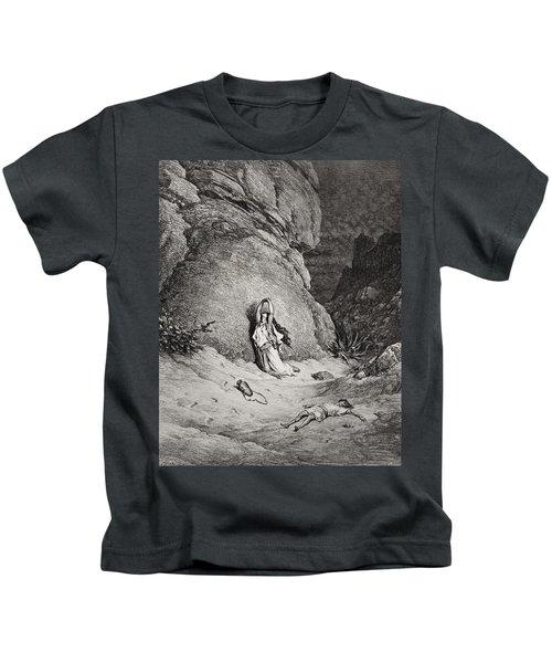 Hagar And Ishmael In The Desert Kids T-Shirt