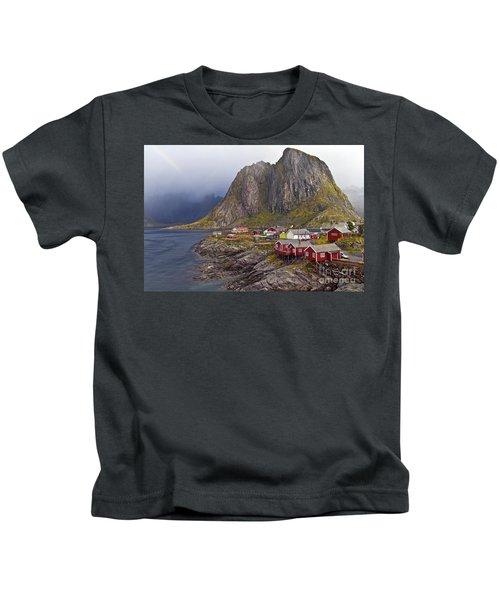 Hamnoy Rorbu Village Kids T-Shirt