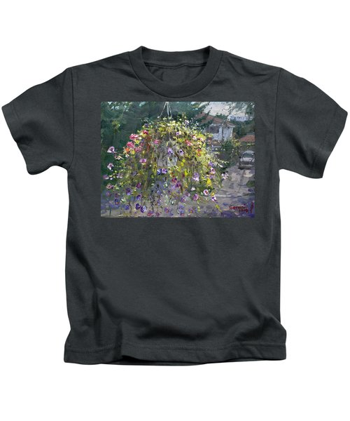 Hanging Flowers From Balcony Kids T-Shirt