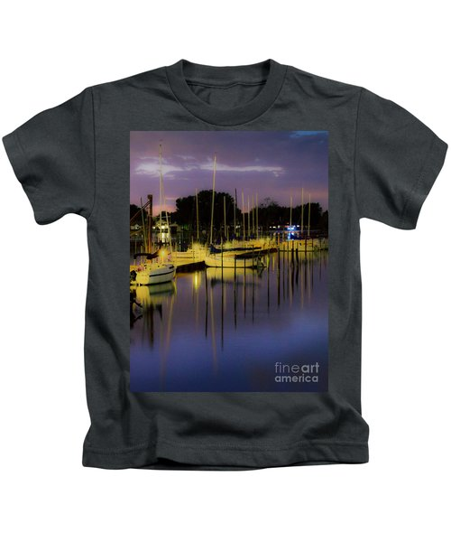 Harbor At Night Kids T-Shirt