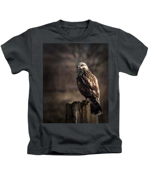 Hawk On A Post Kids T-Shirt