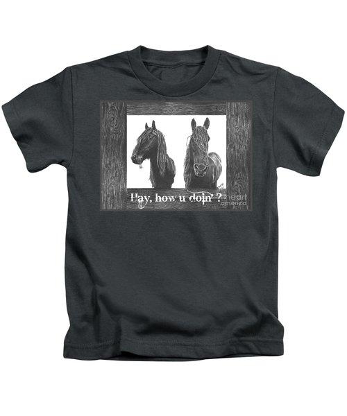 Hay How U Doin Card Kids T-Shirt