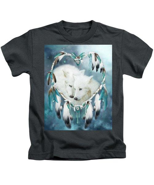 Heart Of A Wolf Kids T-Shirt