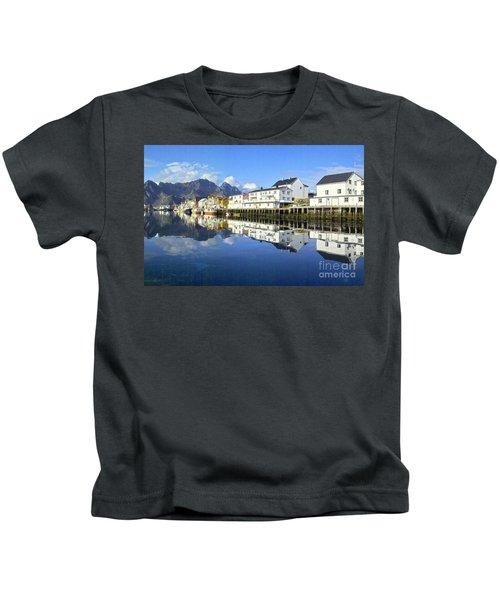 Henningsvaer Harbour Kids T-Shirt