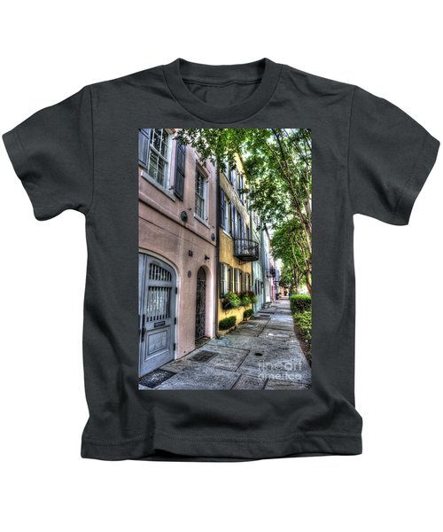 Historic Rainbow Row Kids T-Shirt