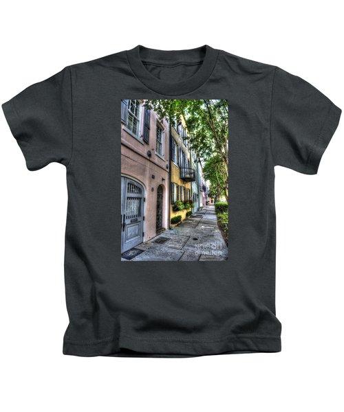 Historic Rainbow Row Kids T-Shirt