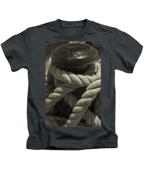 Hold On Black And White Sepia Kids T-Shirt