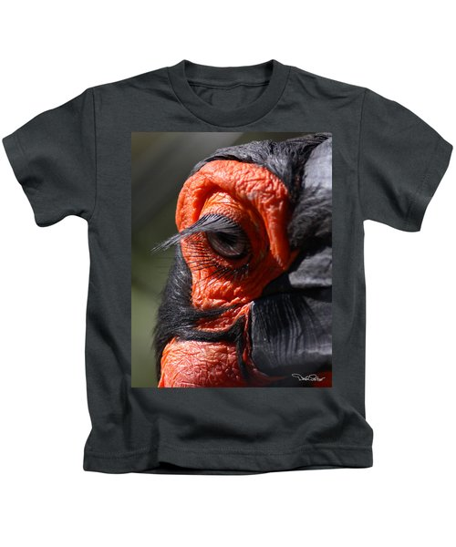 Hornbill Closeup Kids T-Shirt by David Salter