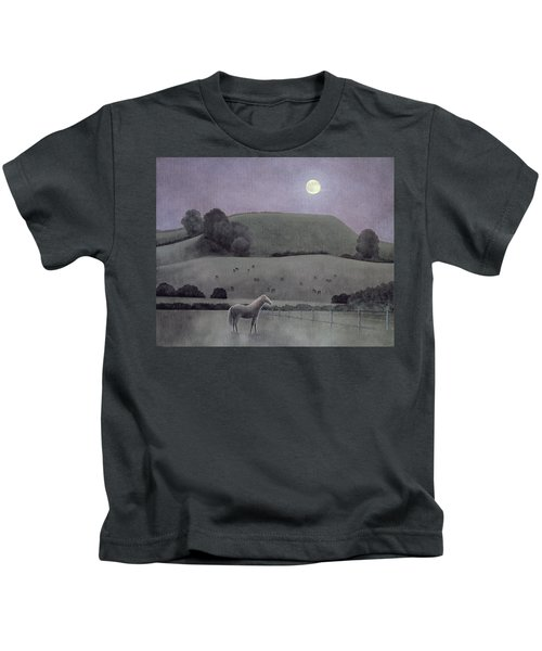 Horse In Moonlight, 2005 Oil On Canvas Kids T-Shirt