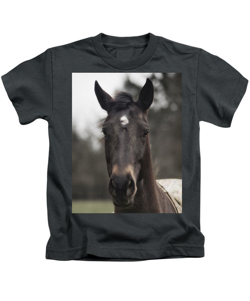 Horse With Gentle Eyes Kids T-Shirt