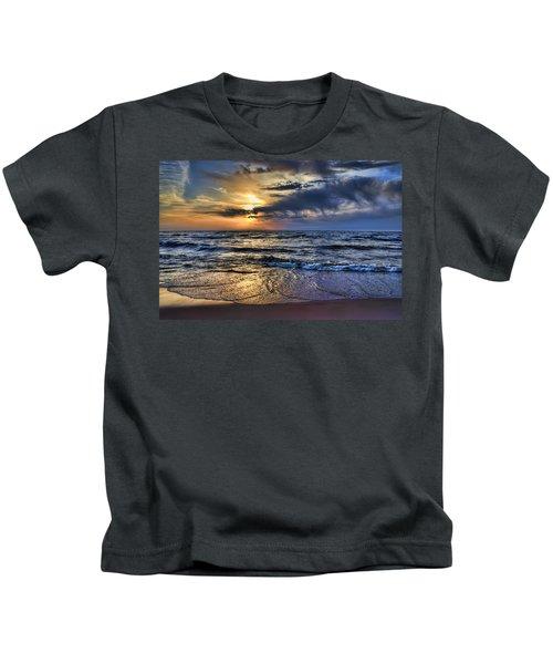 Hot April Sunset Saugatuck Michigan Kids T-Shirt