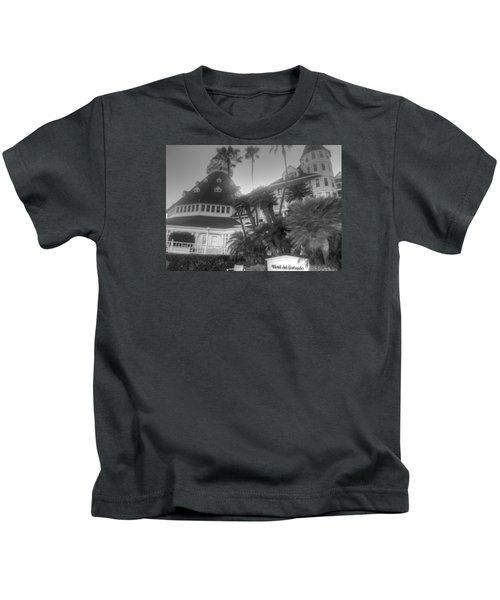 Hotel Del At Sunset Kids T-Shirt