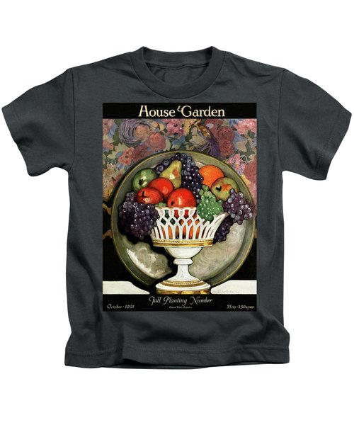 House And Garden Fall Planting Number Cover Kids T-Shirt