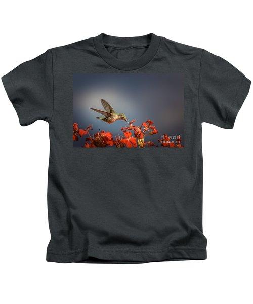 Hummingbird Or My Summer Visitor Kids T-Shirt