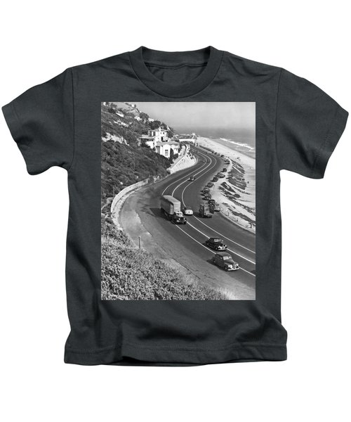 Hwy 101 In Southern California Kids T-Shirt