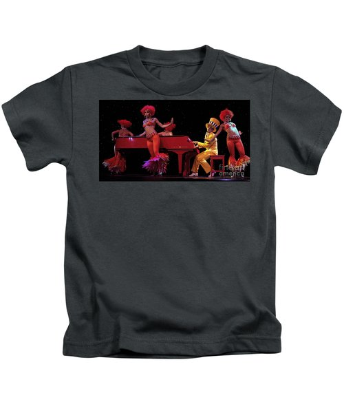 I Love Rock And Roll Music Kids T-Shirt by Bob Christopher