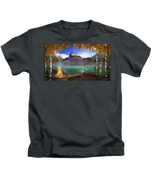 I Stillness I Heal Kids T-Shirt by David M ( Maclean )
