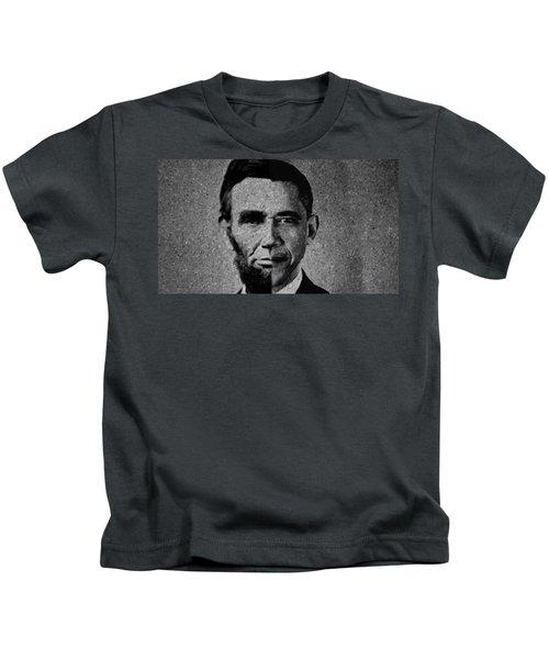 Impressionist Interpretation Of Lincoln Becoming Obama Kids T-Shirt