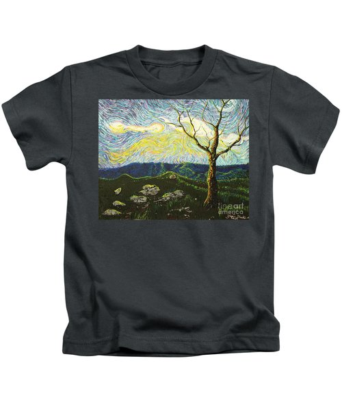 In Between A Rock And A Heaven Place Kids T-Shirt