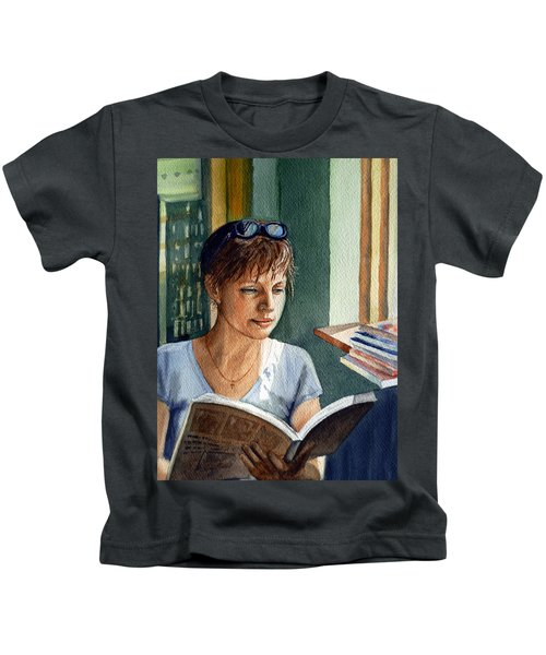 In The Book Store Kids T-Shirt