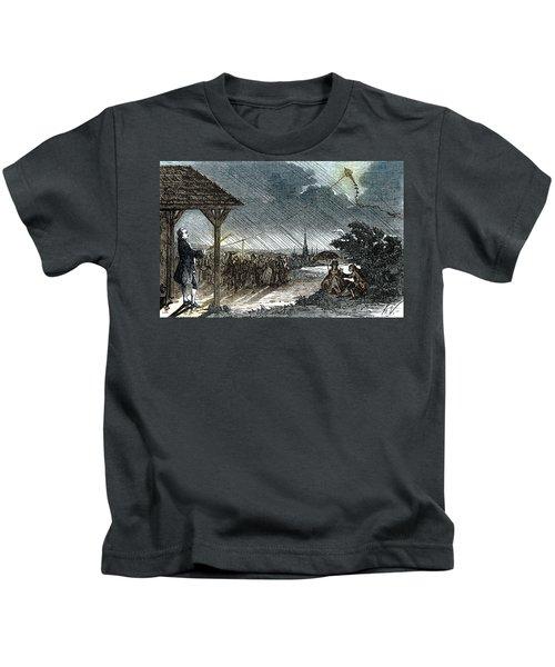 Jacques De Romas Kite Experiment, 1753 Kids T-Shirt