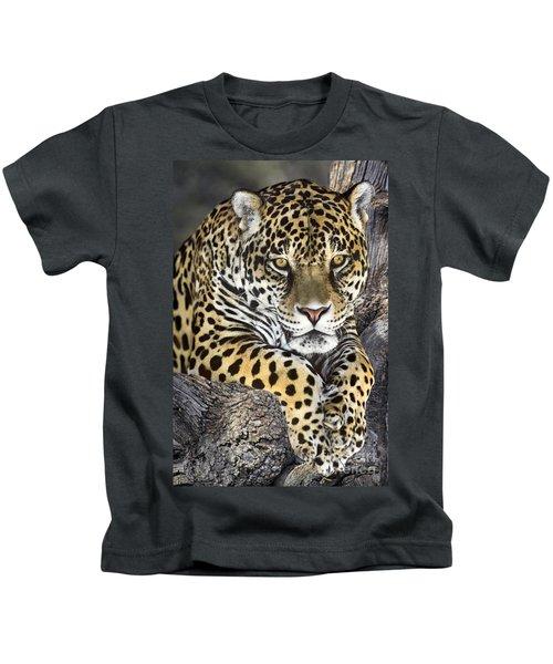 Jaguar Portrait Wildlife Rescue Kids T-Shirt