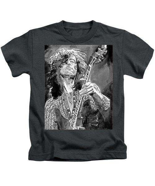 Jimmy Page Mono Kids T-Shirt