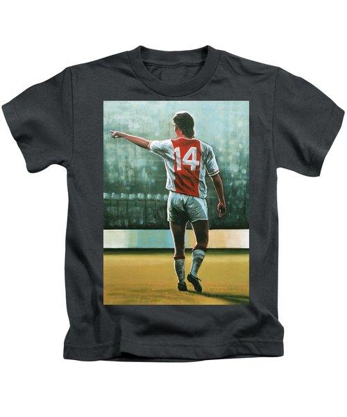 Johan Cruijff Nr 14 Painting Kids T-Shirt