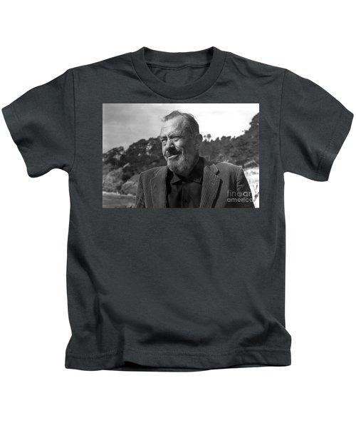 John Steinbeck Pebble Beach, Monterey, California 1960 Kids T-Shirt